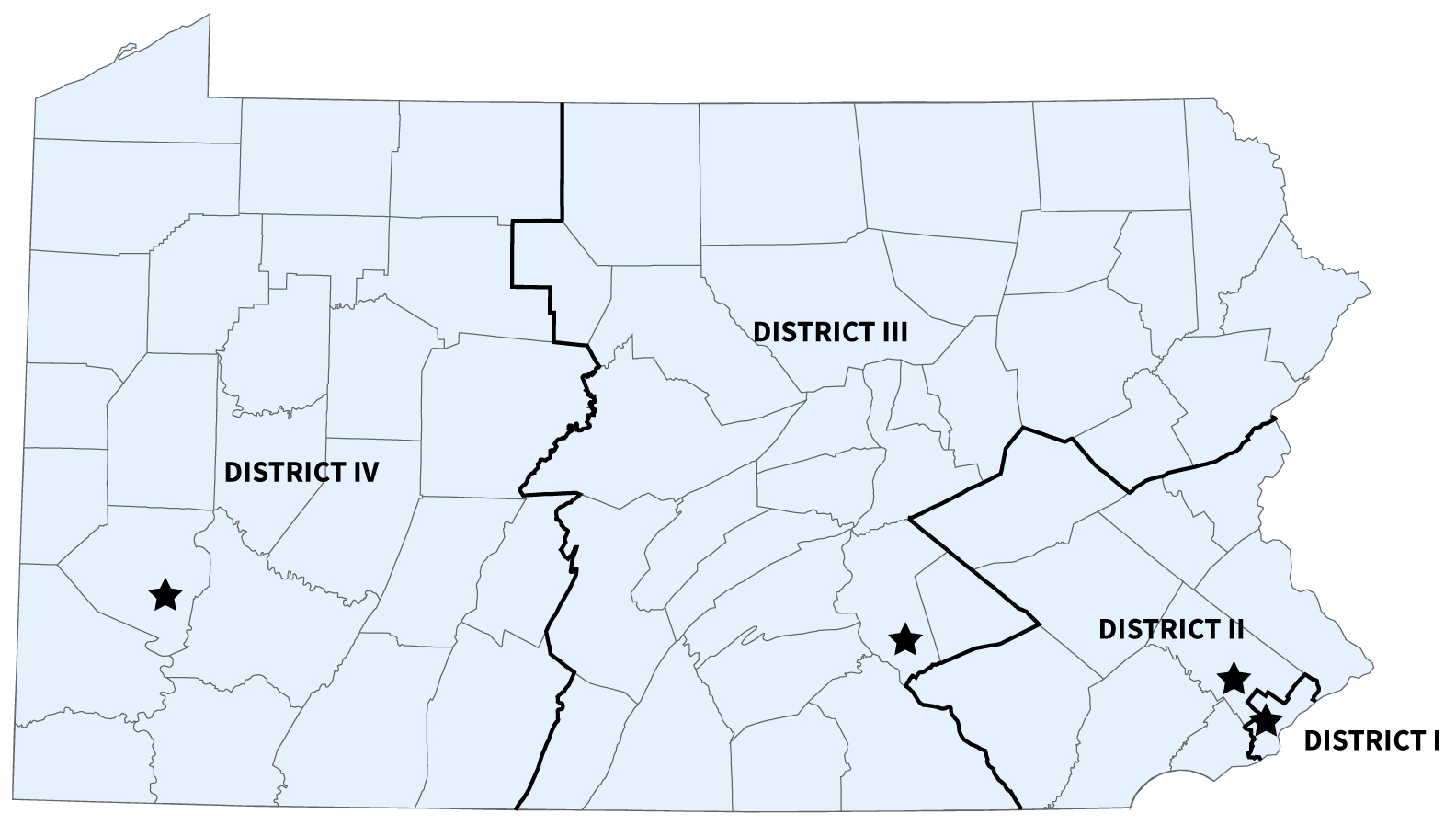 PA District Map